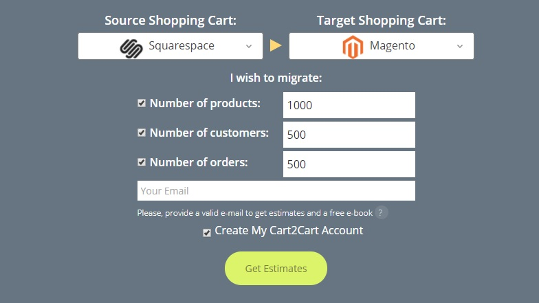 Squarespace to Magento Migration Tool - Image Source: shopping-cart-migration.com