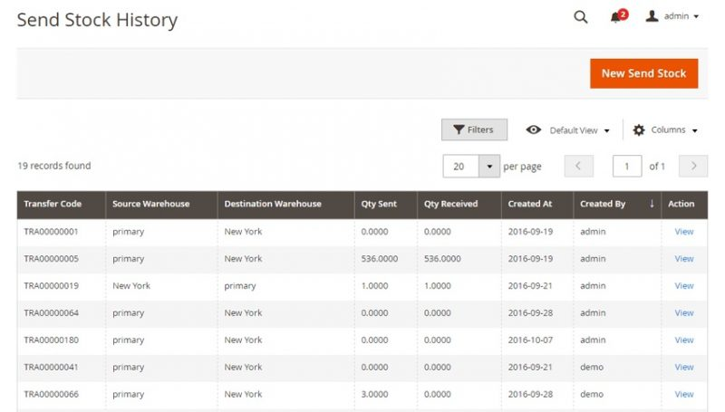 Stock History - Inventory Management Extension - Image Source: magestore.com