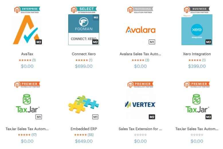 Magento Marketplace Extensions - Image Source: marketplace.magento.com