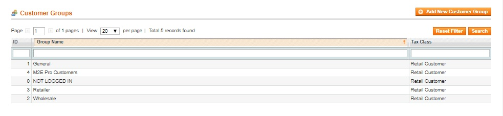 Managing Customer Groups in Magento - Image Source: Ecomitize.com