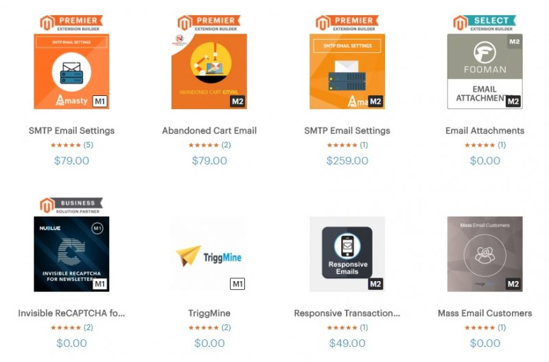 Email Marketing Extension in Magento Marketplace - Image Source: marketplace.magento.com