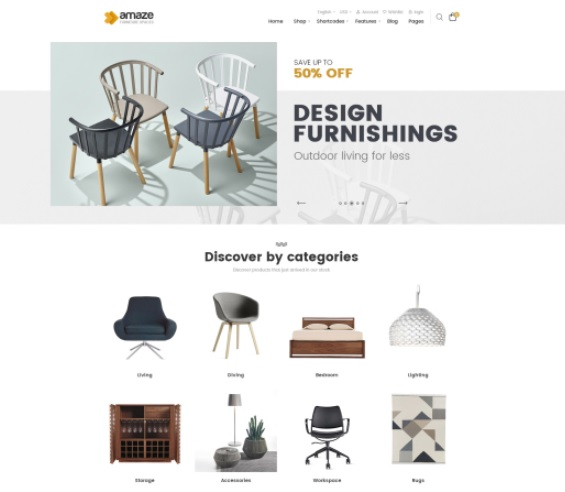 Ves Amaze Magento 2 Luxury Theme - Image Source: venustheme.com